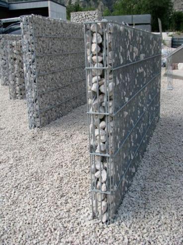 Gabionenwand Höhe 1,80 m - www.garten-bronder-shop.com