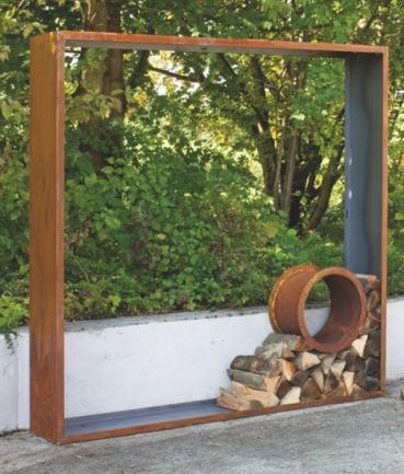 Cortenstahl sichtschutz f r den garten for Gartengestaltung quadratisch