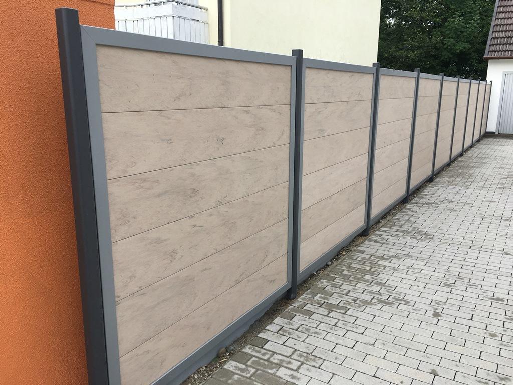 Metallpfosten Fur Wpc Alu Design Sichtschutzelement Www Garten