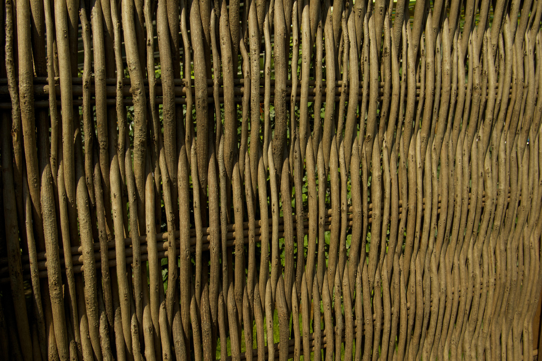 Sichtschutz Robinie mit Rahmen 180x180 cm bronder