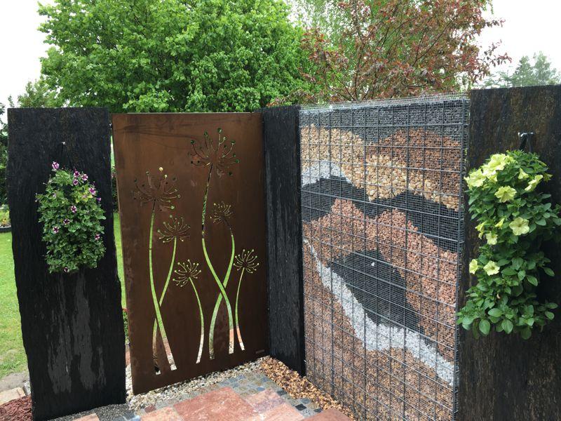 Gabione classic 180 x 120 cm 4 cm tief - Garten steinmauer gabione ...