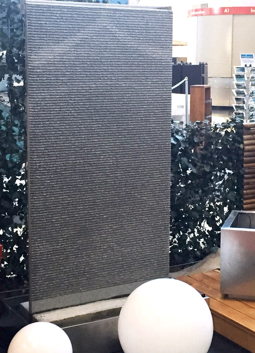 Wasserwand H200xB100cm, blauer Granit, Komplettset - www ...