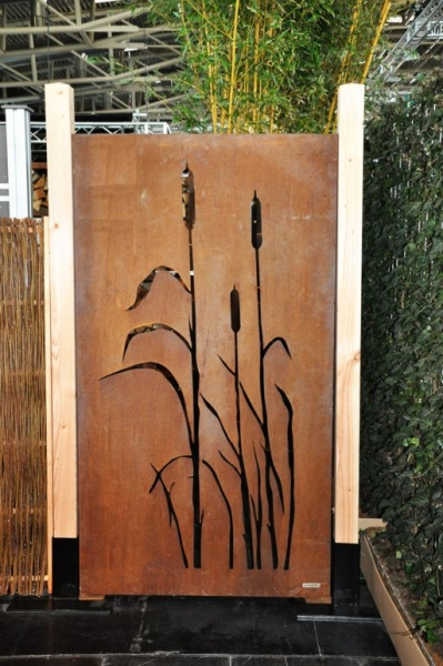 cortenstahl sichtschutz vista 180 x 100 cm. Black Bedroom Furniture Sets. Home Design Ideas