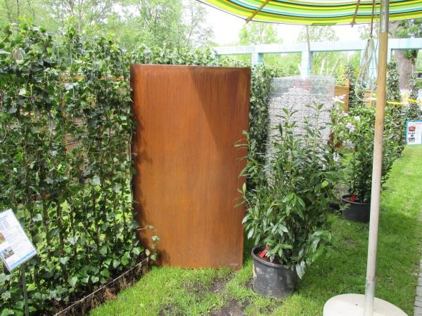sichtschutz cortenstahl vista 180 x 100 ohne motiv www. Black Bedroom Furniture Sets. Home Design Ideas