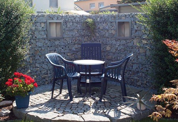 gabionenwand h 1 80m 50 200 maschenweite t 15. Black Bedroom Furniture Sets. Home Design Ideas