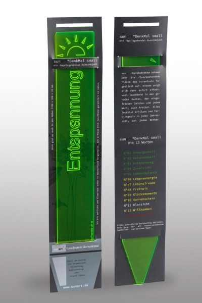 Entspannung - Leuchtstele - DenkMal - Verpackung